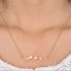 LAST ONE ⭐️ birds on a branch chain necklace
